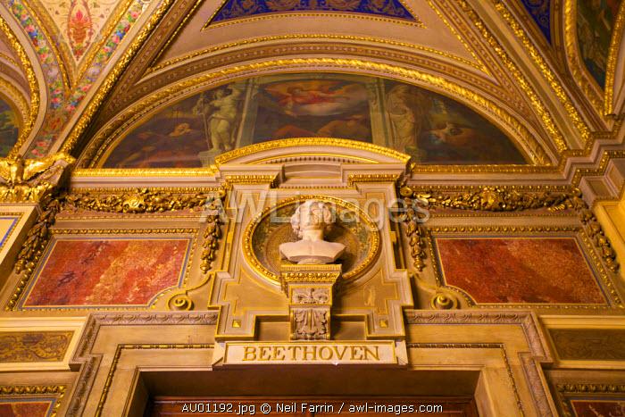 Bust of Beethoven, Schwind Foyer, Vienna State Opera House, Vienna, Austria, Central Europe