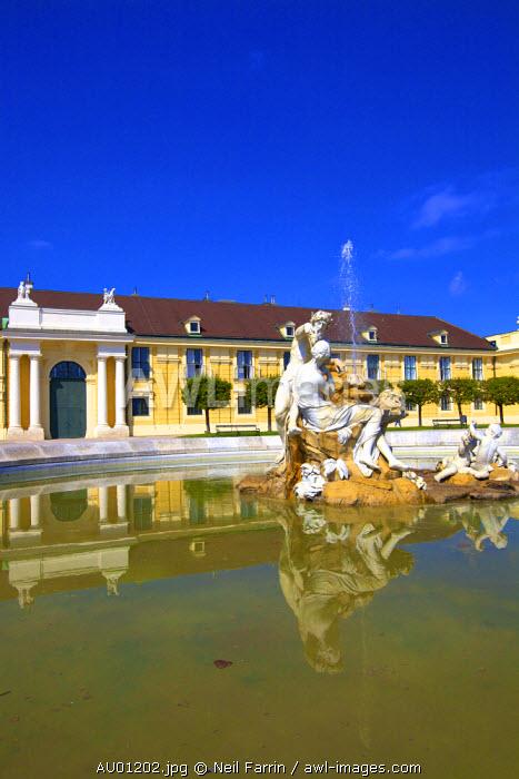 Fountain at Schonbrunn Palace, Vienna, Austria, Central Europe