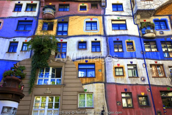 Hundertwasserhaus, Vienna, Austria, Central Europe