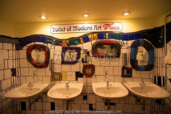 Hundertwasser Toilet of Modern Art, Vienna, Austria, Central Europe