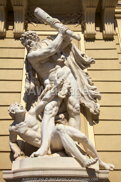 Statue of Hercules Attacking Cacus, Hofburg Palace, Vienna, Austria, Central Europe