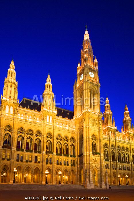 Vienna City Hall, Vienna, Austria, Central Europe