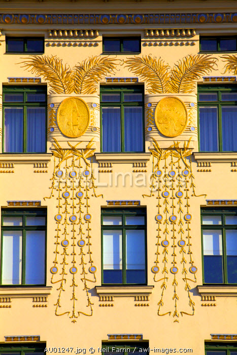 Otto Wagner's Art Nouveau Apartments, Vienna, Austria, Central Europe