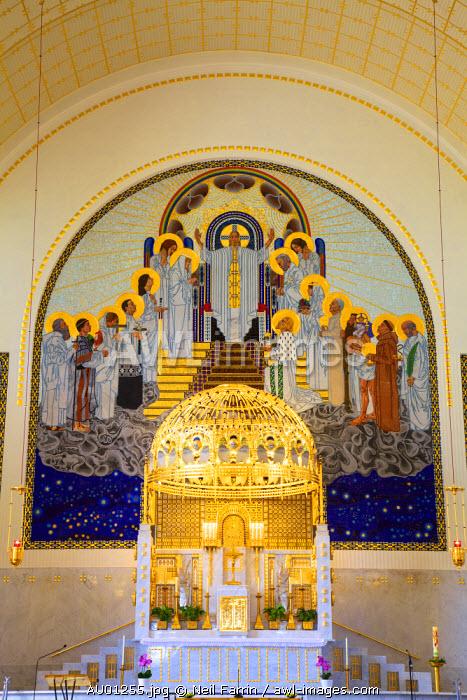 Interior of Kirche Am Steinhof, Church of St. Leopold, Vienna, Austria, Central Europe
