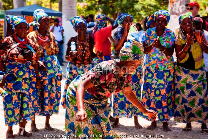 Africa, Angola, Benguela. Women dancing in traditional dress.