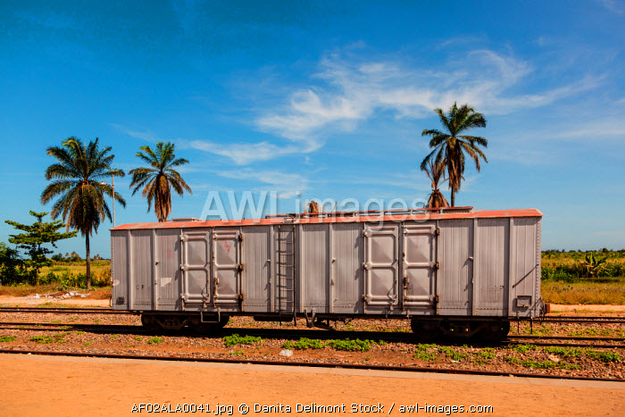 awl-images.com - Angola / Africa, Angola, Lobito. Train car on tracks.