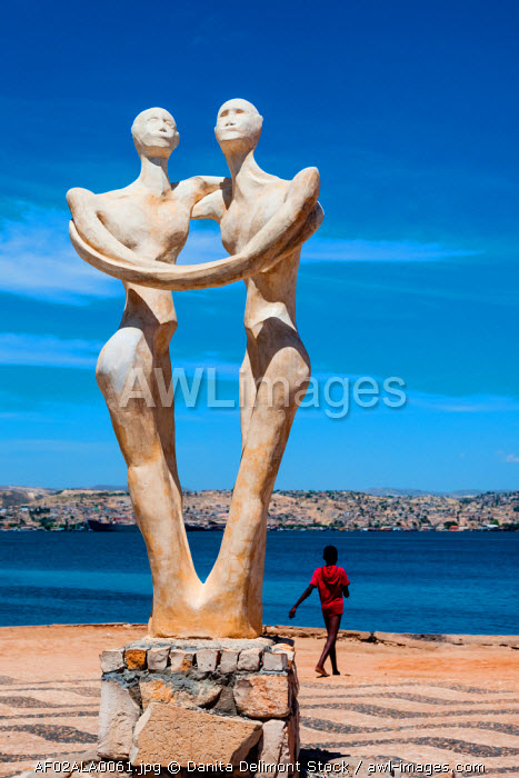 Africa, Angola, Lobito. Sculpture inaugurated in 2000 for the governor of Benguela.