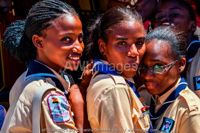 Africa, Angola, Lobito. Female scouts in Lobito.