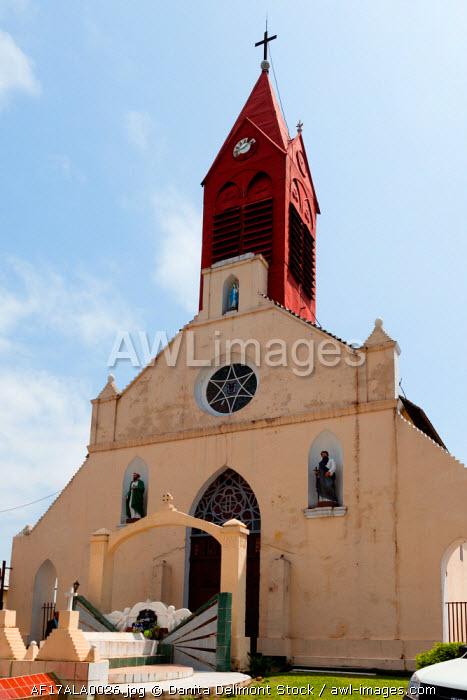 Africa, Gabon, Libreville. Exterior shot of Saint Marie Cathedral.