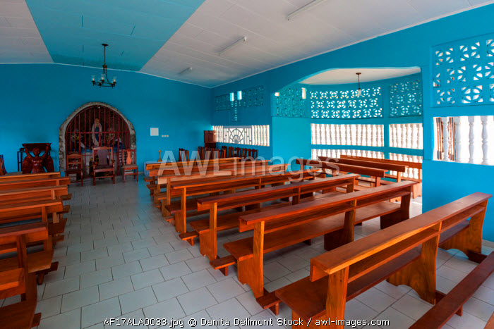 Africa, Gabon, Libreville. Interior of Saint Marie Cathedral.
