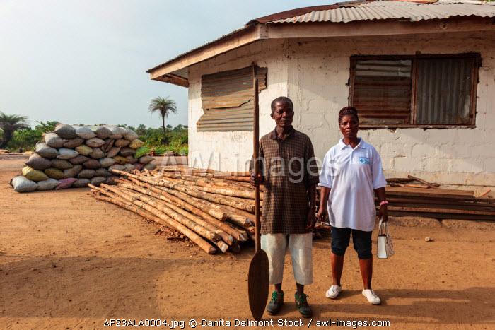 Africa, Liberia, Monrovia. Couple at Du-Port.