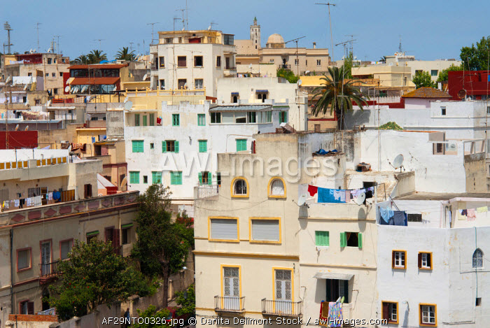 awl-images.com - Morocco / View of Tangier from Medina, Tangier, Morocco, North Africa