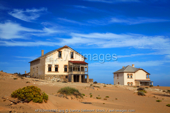 awl-images.com - Namibia / Architect's and Manager's Houses, Kolmanskop Ghost Town, near Luderitz, Namibia, Africa.
