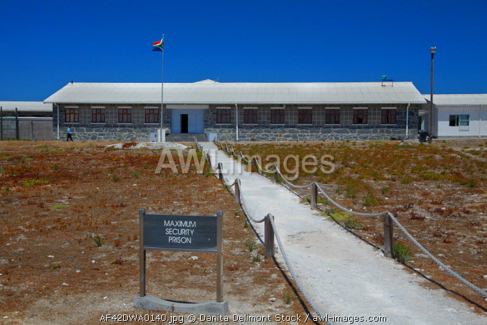 awl-images.com - South Africa / Maximum Security Block, Robben Island Prison, Table Bay, Cape Town, South Africa.
