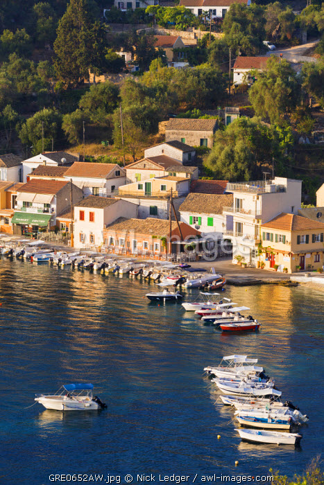 awl-images.com - Greece / Western Europe, Greece, Ionian Islands, Paxos. The picturesque harbour of Loggos.