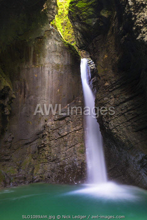 awl-images.com - Slovenia / Slovenia, Goriska Region, Dreznica. Slap Kozjak is one of the most picturesque waterfalls in Slovenia.