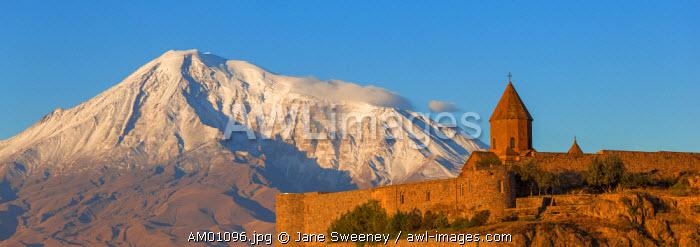 Armenia, Yerevan, Ararat plain, Khor Virap Armenian Apostolic Church monastery, at the foot of Mount Ararat, where Grigor Luisavorich (St. Gregory the Illuminator) was imprisoned