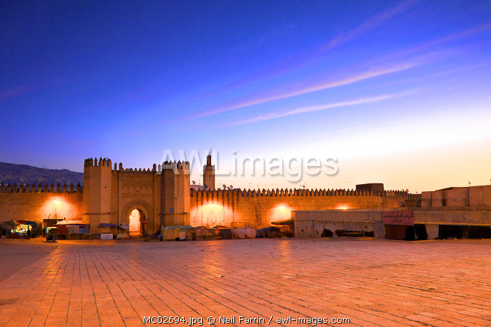 Place Bou Jeloud, Fez, Morocco, North Africa