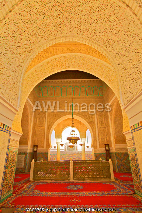 Burial Chamber, Interior Of Mausoleum of Moulay Ismail, Meknes, Morocco, North Africa