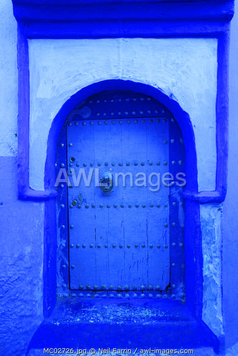Door, Chefchaouen, Morocco, North Africa