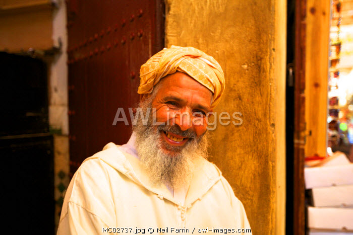 Man, Medina, Fez, Morocco, North Africa