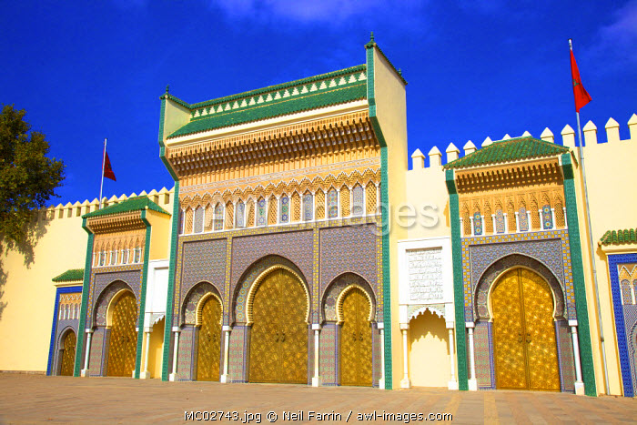 Royal Palace, Fez, Morocco, North Africa