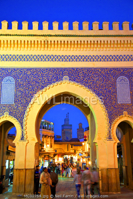Bab Boujeloud Gate, Fez, Morocco, North Africa