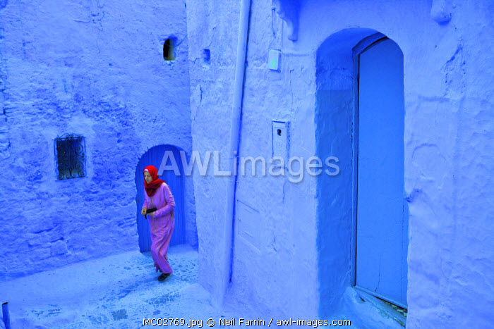 Woman In Traditional Clothing, Chefchaouen, Morocco, North Africa
