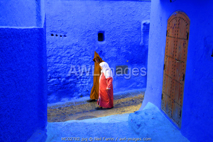People In Traditional Clothing, Chefchaouen, Morocco, North Africa