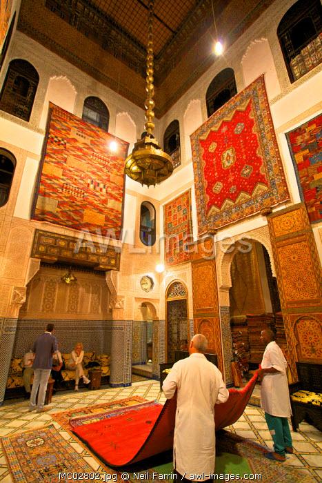 Carpet Shop, Fez, Morocco, North Africa