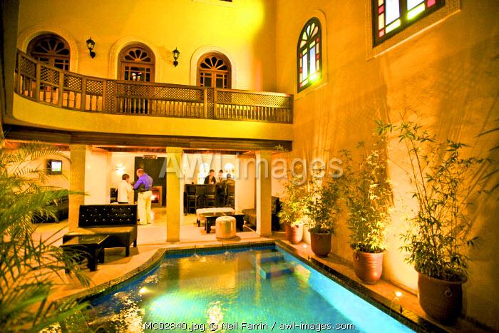 Restaurant, Riad, Fez, Morocco, North Africa