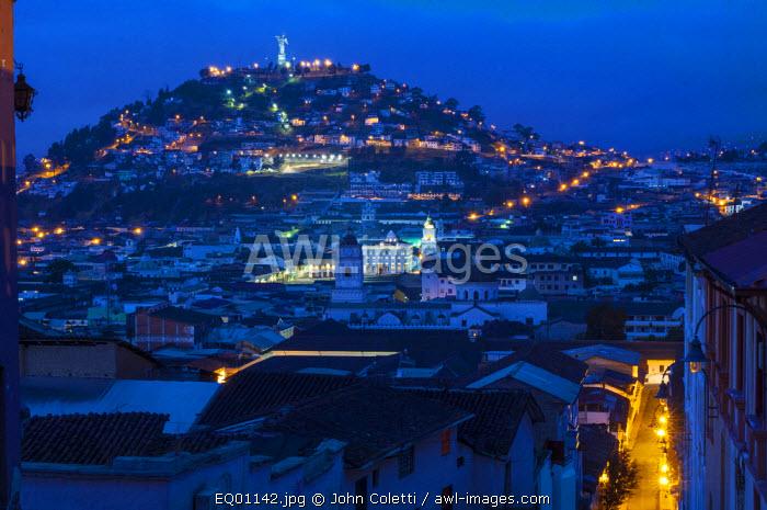 La Virgen de Quito, El Panecillo, Statue Overlooks The Historical Center of Quito, Ecuador