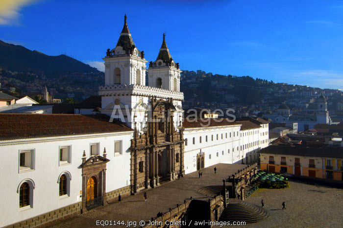San Francisco Church And Monastery, 16th Century, Old Town, Centro Historico, UNESCO World Cultural Heritage Site, San Francisco Plaza, Quito, Ecuador