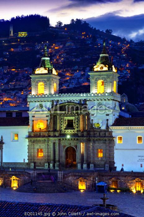 San Francisco Church And Monastery, 16th Century, Old Town, Centro Historico, UNESCO World Cultural Heritage Site, San Francisco Plaza, Quito, Ecuador
