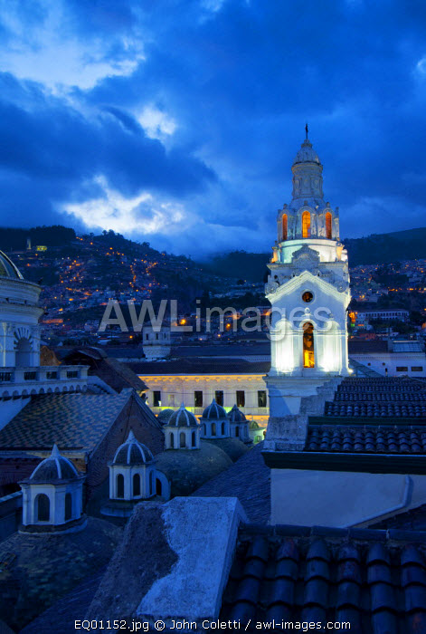 Metropolitan Cathedral of Quito, La Catedral, Belltower, Old Town, Historical Center, UNESCO World Cultural Heritage Site, Cathedral of Ecuador, Quito, Ecuador