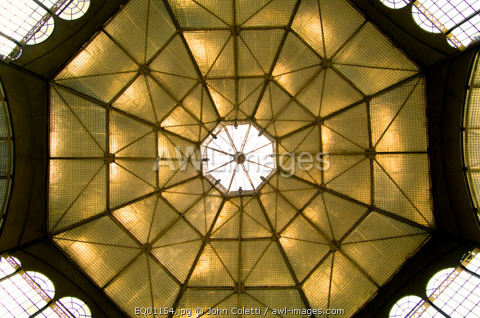 19th Century Iron Roof of The Itchimbia Cultural Center or The Crystal House, Itchimbia Park, Quito, Ecuador