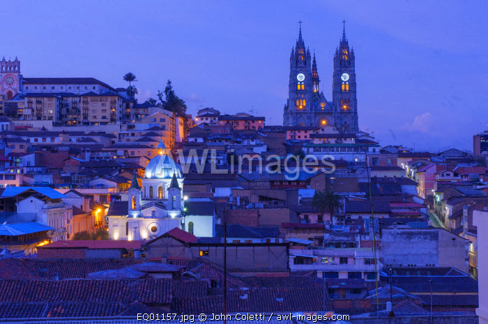 Basilica del Voto Nacional (Basilica of the National Vow), Old Town, Centro Historico, Largest Neo-Gothic Basilica In The Americas, Quito, Ecuador