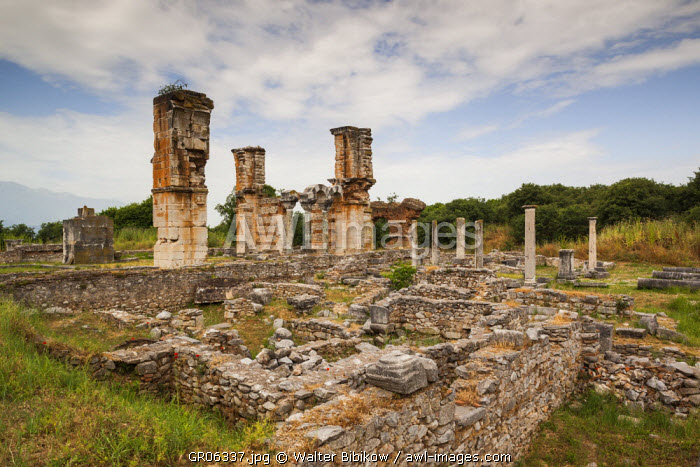 Greece, East Macedonia and Thrace Region, Philippi, ruins of ancient city founded in 360 BC, Basilica B