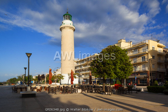 Greece, East Macedonia and Thrace Region, Alexandroupoli, the town lighthouse, morning