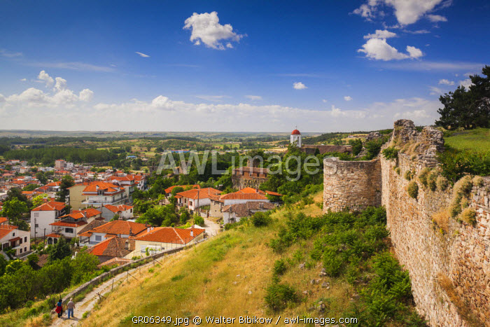 Greece, East Macedonia and Thrace Region, Didymotiho, elevated town view from the Kale Fortresss