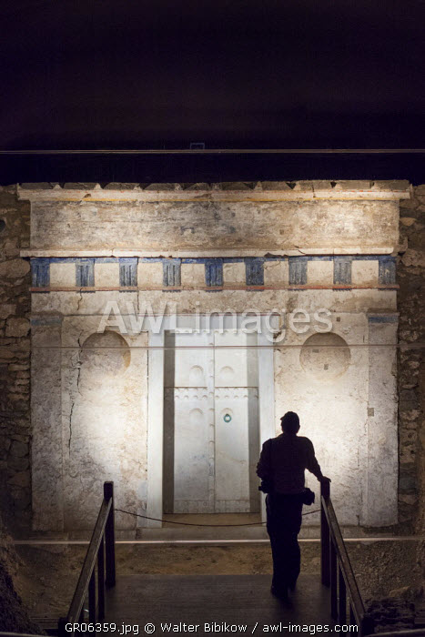 Greece, Central Macedonia Region, Vergina, Royal Tombs Museum, underground tomb of Alexander IV, son of Alexander the Great