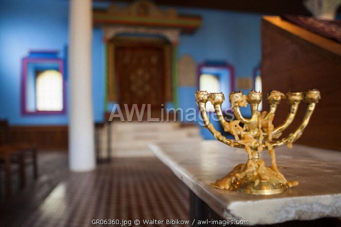 Greece, Central Macedonia Region, Veria, Barbouta, Old Jewish Quarter of restored synagogue