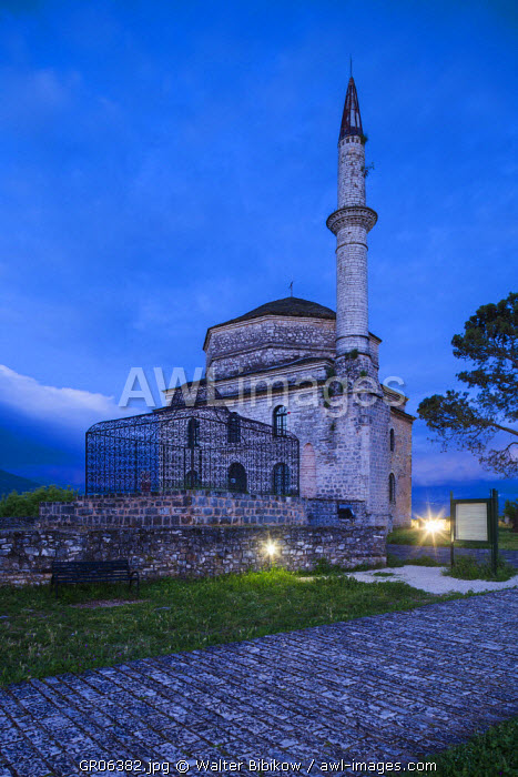 Greece, Epirus Region, Ioannina, Its-Kale Inner Citadel, the Tomb of Ali Pasha and the Fetiye Cami Mosque