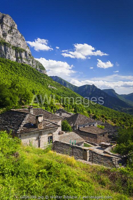 Greece, Epirus Region, Zagorohoria Area, Vikos Gorge, world's deepest gorge, view from Mikro Papingo village
