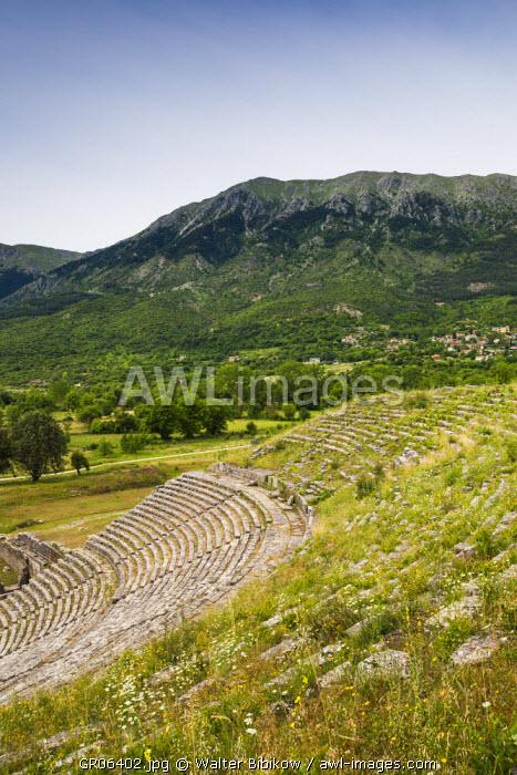 Greece, Epirus Region, Ioannina-area, Dodoni, Theater of Dodoni, built 3rd century BC