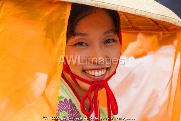 Japan, Honshu, Kanto, Tokyo, Asakusa, Jidai Matsurai Festival, Parade Participant