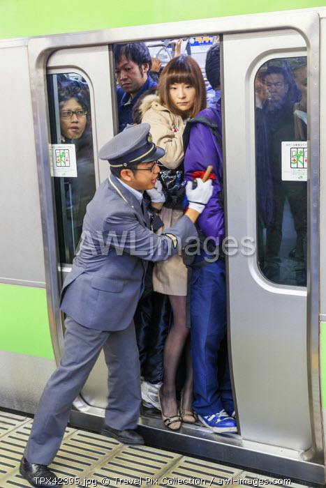 Japan, Honshu, Kanto, Tokyo, Shinjuku Station, Rush Hour Crowds