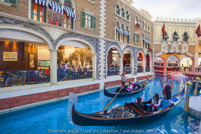 China, Macau, Cotai, The Venetian Hotel and Casino, The Grand Canal