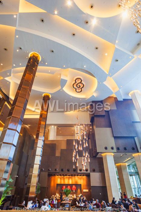 China, Macau, Cotai, City of Dreams Hotel and Casino Complex, Grand Hyatt Hotel Lobby