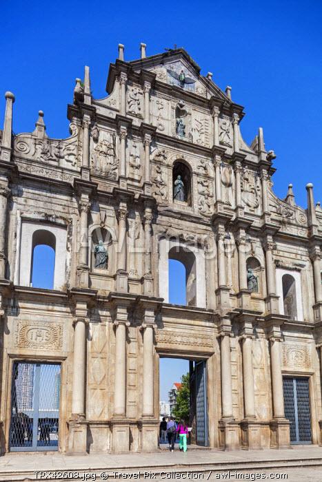 China, Macau, Ruins of St Paul's Church